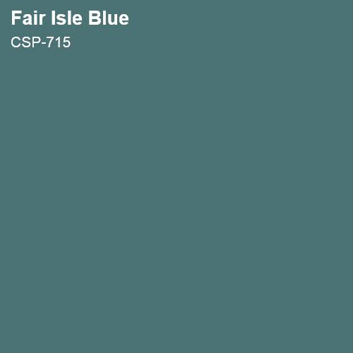 Fair Isle Blue Color Sample