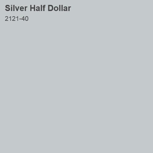 Silver Half Dollar Color Sample